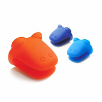 Wholesale Oven Mitts Cute Silicone Kitchen Oven Baking Glove Pot Mitt Tool Holder Heat Resistant Random Color