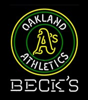 athletic handmade - Becks Oakland Athletics Neon Sign Custom Handmade Real Glass Store Bar KTV Club Motel Advertising Display Game Sport Art Neon Signs quot X24 quot