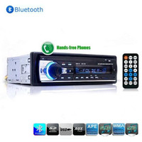 Wholesale 2016 Car Radio JSD520 Stereo Player Bluetooth V2 Phone AUX IN MP3 FM USB Din remote control For Iphone V Car Audio Auto car dvd