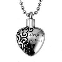 Wholesale New stainless steel floating lockets titanium steel open perfume locket always in my heart locket