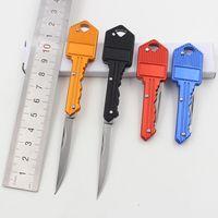 Wholesale Portable Key Fold Knife Key Pocket Knife Keychain Knife Peeler Mini Camping Keyring Knife Tool Color