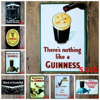 Wholesale Black Beer My Guinness Vintage Tin Signs Retro Metal Sign Antique Imitation Iron Plate Painting Decor Wall Of Bar Cafe Pub Shop Restaurant