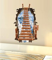 animal stairs - 3D stair Wall stickers personality fashion creative sitting room bedroom background Ladder sky plane PVC wallpaper