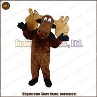 Wholesale Moose mascot costume cheap high quality carnival party Fancy plush walking elk mascot adult size