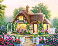 antique gifts materials - DIY Diamond Painting Diamond Embroidery Landscape Full Drill Diamond Mosaic Hobbies Crafts Material Handmade Wall Picture