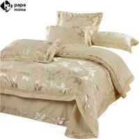 Wholesale Luxury bedding set Silk bedclothes bed linen sets queen king size Quilt duvet cover set bedsheets cotton bedcover FAST ship