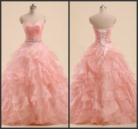 b lights crystals - Quinceanera Gowns Cheap Real Simple Ball Gown Tiered Skirt Elegant Sweetheart Neck Custom Made Formal Dress Included A Design B Design