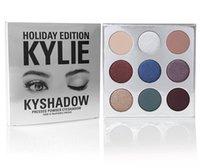 Wholesale Hot stock New Kylie Cosmetics Bronze burgandy holiday Eyeshadow KyShadow Palette