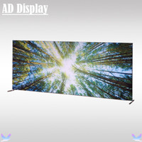 Wholesale 20ft ft Portable Square Corners Straight Stretch Fabric Media Backdrop Stand With Custom Banner Printing Tradeshow Advertising Display Wall