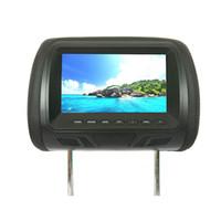 7 '' Pantalla táctil capacitiva de DVD de coche reposacabezas Monitor de la almohada del coche apoyabrazos apoyo USB SD IR FM Player