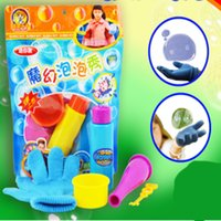 Wholesale Bubble Blower Machine Pompas De Jabon Unisex New Street Hot Toys Of Magic Hand On Bubble For Children single Glove Suit