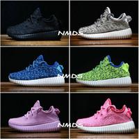 Cheap Kids Adidas Yeezy Boost 350 Turtle Dove Pirate Black Moonrock Oxford Tan Pink Boy Girls Running Shoes Children Kanye West Yezzy 350 Yeezys