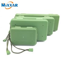 Wholesale Waterproof Anti Fall Green Plastic Storage Box For Flashlight Light Torch Lamp Battery Charger Case with Kinds of Size