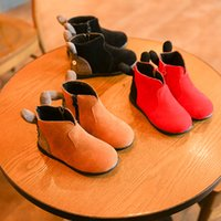 baby dear shoes - New Fashion Matin Boots Winter Baby Rabbit Ear Short Ankle Dear Shoes Thicken Warm Cashmere Hot Children Boots CN26