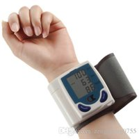 Wholesale 2016 New pc Digital LCD Wrist Cuff Arm Blood Pressure health monitors Heart Beat Rate Pulse Measure Meter health care Machine