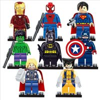 Wholesale 480pcs Super Hero mini building blocks Figures Toys The Avengers Toys Hulk Hobbies Classic Action Figures DIY Building Blocks Bricks