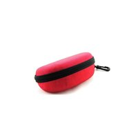Wholesale Portable Sunglasses Case Glasses Carry Bag Hard Zipper Box Travel Pack Red