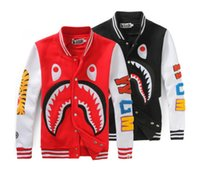 Wholesale Top Quality Loves Casual Sweater Printing Sharks Baseball Jacket Uniform Fashion Cartoon Sweatshirt Coats