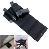 adjustable mattresses - Tactical Adjustable Under Mattress Bed Seat Vehicle Car Pistol Handgun Gun Holster Holder Universal with Tactical Flashlight Loop