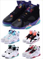 Caoutchouc respirante France-Kids Retro 7 Basetball chaussures pour les filles et les garçons respirant caoutchouc Mesh Kids Athletic Basketball Shoes