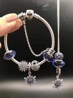 al por mayor perlas de vidrio base de plata-925 plata pura ALE talló los granos de cristal del murano de la base del hilo mezclan las pulseras de Pandora del vidrio del lampwork con la caja al por menor original