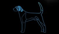 american pet shops - LS1793 b American Foxhound Dog Pet Shop Neon Light Sign jpg