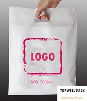 W20xH30cm (7.8 '* 11.8') A4size bolso plástico conocido de encargo del regalo / bolso impreso de la promoción de la INSIGNIA / bolso de empaquetado de encargo con insignia