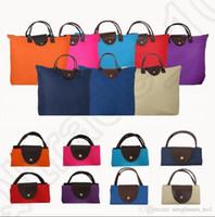 Wholesale Chic Portable Tote Fashion Reusable Oxford Bag Hot Sell Folding Shopping Travel Bag Colorful Handbags Eco Recycle Beach Shoulder Bag OOA1017