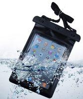 Negro 100% impermeable bolsa de la tableta bolsa de la bolsa de la bolsa de secado de alta calidad de protección de la bolsa para iPad Tablet accesorio electrónico Gadget
