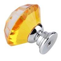 Wholesale 30mm Diamond Crystal Cupboard Cabinet Dresser Drawer Wardrobe Door Knob Pull Handle home decor