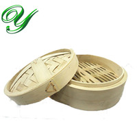 bamboo steamer basket - Tiers Bamboo Steamer Basket breakfast dinner Rice cooker Pasta fish Healthy natural cooking tools inch cm with Lid restaurant supplies