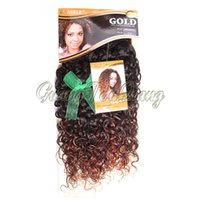 beyonce hair extensions - Hot quot Noble Gold Bohemian Dancing Beyonce Ombre Two Tones Afro Loose Curl Curly Synthetic Hair Extensions