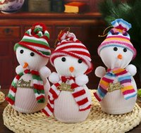 apple table decorations - Cute Snow Man Cover Apple Small Bags Christmas Dinner Table Party Decoration Supplies Xmas Gifts For Home Family Friend