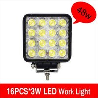 Wholesale 4 inch W cree LED Work Lamp Bar Waterproof Flood Spot Combo Beam Offroad Boat Car Motorcycle and car headlight Night Driving Lighting