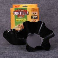 Wholesale Perfect Tortilla Baked Not Fried Pans Include Pan Set Pie Plate Western Style Food Tray MSix Corner Cake Mould nf