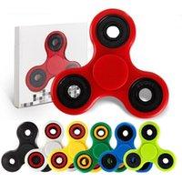 Wholesale Fast EDC Fidget Spinner toy finger spinner toy Hand tri spinner HandSpinner With Retail box