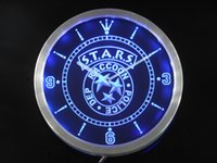 Wholesale nc0198 Biohazard Stars RPD Resident Evil Neon Sign LED Wall Clock Dropshipping