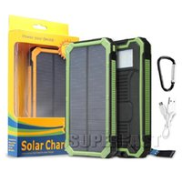 Without Logo Shockproof Dustproof 8000 mAh Functional Solar Power Bank Safety Solar Chargers Built-in LED Lights Solar Panels For MP3 DV with Retail Package