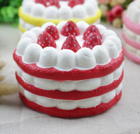 Wholesale 2017 New Arrival Hight Slow Rebound Squishy Simulation Fake Food Cake Simulation Package Pu Cake Model
