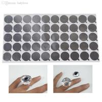 aluminum gaskets - 1 Crystal Glue Ring Disposable Aluminum Foil Gasket False Eyelash Glue Holder Adhesive Holders Eyelash Extensions