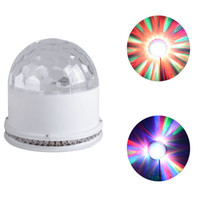 Auto active theatre - Mini Sunflower Effect Lamp Led Crystal Magic Ball Theatre Lighting Voice Actived Rotating Stage Dj Lights for Family Party Small Ballroom