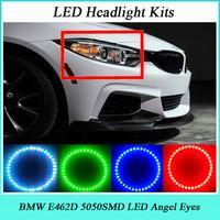 Wholesale 4 MM RGB SMD LED ANGEL EYES HALO RINGS kit fit for BMW E462D V Car light LED Multi Color