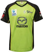 Wholesale 2016 Sydney Thunder cricket Jerseys men shirts Thunder cricket shirt top quality