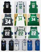 Wholesale High Quality Khris Middleton Green Giannis Antetokounmpo Jersey Black White Jabari Parker Jersey Blue College Basketball Jerseys