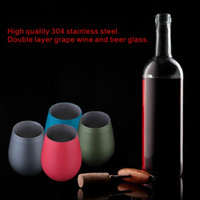 ECO Friendly spray protection - Fashion High Quality Stainless Steel Double Layer Grape Wine Beer Wine CUP Glasses Environmental Protection Spray Painting Technology
