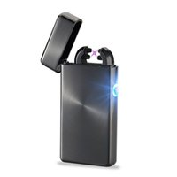 Wholesale Fashion Dual Arc USB Electronic Rechargeable Lighters Cross Flameless Cigarette Lighter