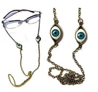Wholesale GL037 pc funny women daily eyewear accessories vintage evil eye lucky eyeglass chains holder