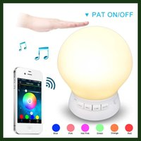 bedside lamp ikea - New Arrival White Silicon Bedside Table Touch Lamp Portable Bluetooth Speaker LED Night Light for Mobile Phone Support TF Card
