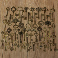 Wholesale 69pcs Different style Vintage Style keys necklace pendant alloy special DIY accessories for necklaces bracelets anklets