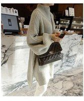 Wholesale 2016 New style winter sweater female han edition loose turtleneck sweaters in the long sleeve dress